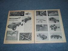 1963 Vintage How-To Info Article Building a 22jr Tony Nancy Model A Roadster