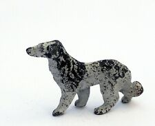 Antique solid iron dog Hubley dog Borzoi Russian Wolfhound Party Favor paperwt