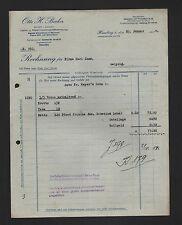 Hambourg, Facture 1934, Otto H. Becker intestinales viande-grosshandlung