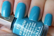 New! .17oz MAVALA Nail Polish Color Cream BLUE CURACAO Aqua Blue Shimmer Lacquer
