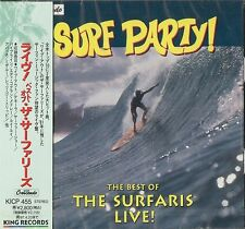 SURF PARTY The Best of the SURFARIS LIVE! - JAPAN CD NEW SEALED - KING CRESCENDO