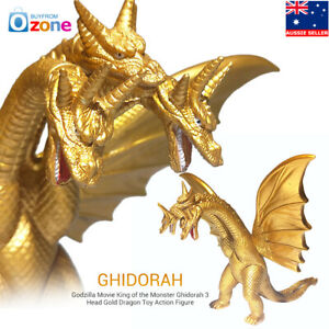 3 Head Gold Dragon Godzilla Movie King of the Monster Ghidorah Action Figure Toy