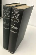 The Nature and Destiny of Man - Niebuhr - Two volume Set - 1941 / 1943 - 1st Ed.