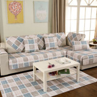 Home Pastoral Twill Sofa Anti-Slip Towel Cover Armrest Cushion Soft Seat Pad