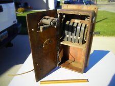 Antique 1900s Western Electric Kellog Oak Wall Mounted Hand Crank Telephone Case