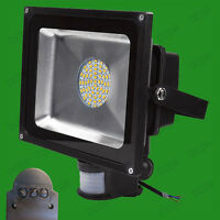 50W Warm White LED 60 SMDs PIR Motion Sensor Flood Light Outdoor Lamp IP65