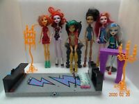 Six Lot Of Monster High Dolls Plus Furnitures
