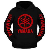 Red Yamaha Racing Black Long Sleeve TEE YZF R1 R6 YFZ Banshee Hoodie