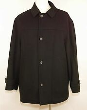 ALFANI 100% WOOL PEA COAT Jacket Quilt Lined WARM Sophisticated MEN'S 2XL or XXL