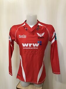 Scurlets Size L Kooga shirt jersey trikot maillot long sleeves Welsh Rugby Union