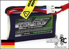 1x Turnigy nano-tech 460mAh 2S 25C - 40C NEU Lipo Akku 7,4V JST