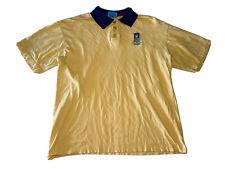 New Zealand Kiwi Art Men's Yellow Polo Shirt; Size XL