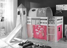 Vorhang 4.tlg PRINZESSIN /PINK für Spielbett Hochbett Etagenbett