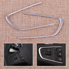 New 2x Car Steering Wheel Cover Molding Trim Strip Fit For Peugeot 508 2014-2016