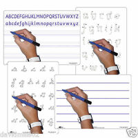 Childrens Educational Kids Early Learning Double Sided Whiteboards +Dry Wipe Pen