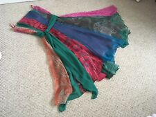 Monsoon Size14 Silk Metallic M Colour Boho Strapless Party Prom Midi Dress 🍸🍸