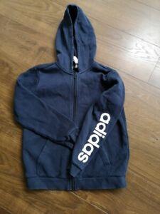 adidas Navy used hoodie kids - very good condition white branding
