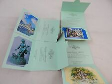 Tokyo Disneyland Phone Card Disney Gallery 4 Card Set Disney Art
