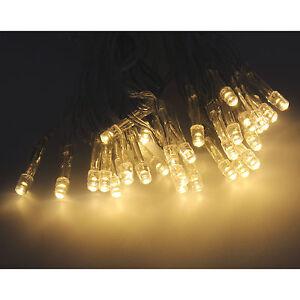 10/30/50 LED Lichterkette mit Timer für Innen Außen warmweiß Batteriebetrieben