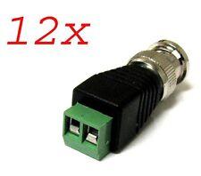 New 12 PCS Coax CAT5 To Camera CCTV BNC Video Balun Connector For CCTV Camera
