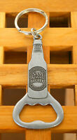 Sam Adams Light Beer Silver Tone Metal Keychain Keyring
