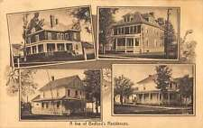 Bedford Quebec Canada birds eye view some residences antique pc Y14281