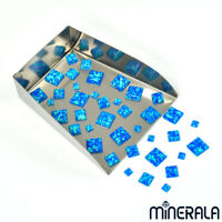 BLUE SYNTHETIC LAB CREATED OPAL LOOSE SQUARE CABOCHON VARIOUS SIZES WP00223