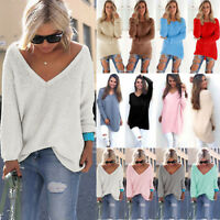 Women Winter Long Sleeve Loose Knitted Sweater Tops Pullover Casual Jumper Dress