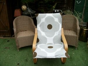 Handmade COVER for IKEA ALME poang chair @ ORLA KIELY L GREY FLOWER #9