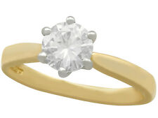 0.91 Carat Diamond and Yellow Gold Solitaire Engagement Ring