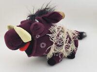 The Lion King Pumbaa pig warthog stuffed animal plush purple grass  skirt