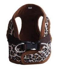 Dog Puppy Soft Harness Vest - Leopard Brown Print - Small Breeds - Xs, S, M, L