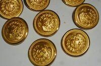 "Lot: 12 vtg US Navy Anchor & Eagle Brass Buttons~Waterbury Button Co.,Conn~7/8"""