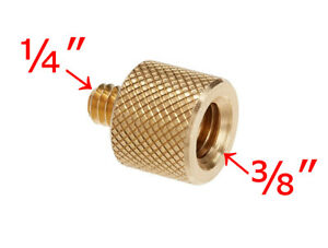 "3/8"" Female To 1/4"" Male Brass Screw Camera Tripod Thread Adapter - UK STOCK"