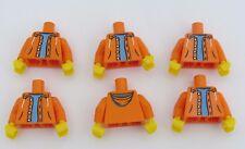 Lego 6 Torso Body For Minifigure Figure  Orange Hoody Jacket