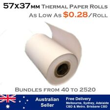 57x37 mm THERMAL EFTPOS PAPER ROLLS (As low as $0.28 per roll)