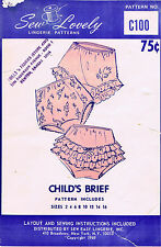 BABY Child GIRLS Toddler Fabric Pattern UNDERWEAR PANTIES PANTY Sew Lovely #C100