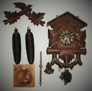 Vintage WELBY Regula 8 Day Cuckoo Clock Germany Parts or Restoration