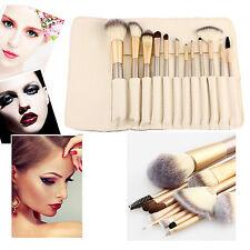 12pcs Pro Makeup Brush with Cosmetic Bag Eyeshadow Foundation Brushes Set tools