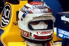 Nelson Piquet Williams fotografía de retrato F1 1987