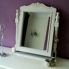 French Grey Dressing Table Vanity Mirror Wood Freestanding