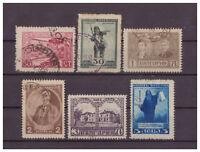 Bulgarie, 70. Anniversaire de Iwan Wasow Minr. 145 - 150, 1920 Used