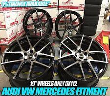 "19"" VW Golf GTi Clubsport Brescia Style Wheels - matt Black polished MK5 6 7 A3"