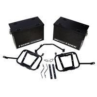 Tusk Aluminum Panniers w/ Pannier Racks Large Black BMW R1200GS ADVENTURE 12-16