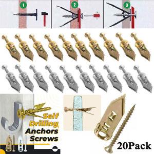 20PCS Self Drilling Anchors Screws Drywall Self-Drilling Anchors Expansion Set