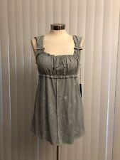 BCBG MAX AZRIA Sleeveless Embroidered Empire Babydoll Mini Dress M (read)