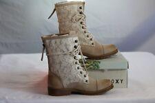 "ROXY WOMEN'S ""CONCORD"" OAT CASUAL STYLISH COMBAT BOOTS size 6 / Six"