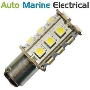 White LED Navigation Light Bulb 12/24V (Masthead,Stern,Anchor) Boat, BAY15D
