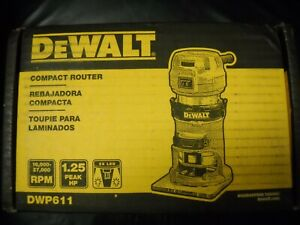 DEWALT DWP611 1-1/4 HP Variable Speed Premium Compact Router with LED New