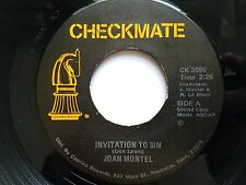 """JOAN MONTEL - Invitation to Sin / I Need Some Heavenly Help PRIVATE COUNTRY 7"""""""